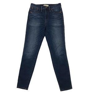 Madewell Dark Wash High Rise Skinny Jeans
